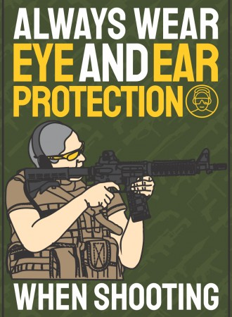 Always wear eye and ear protection