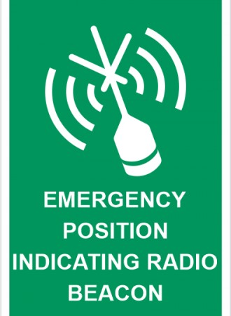 Emergency position indicating radio beacon sign