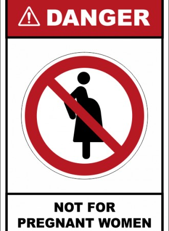 Not for pregnant women sign