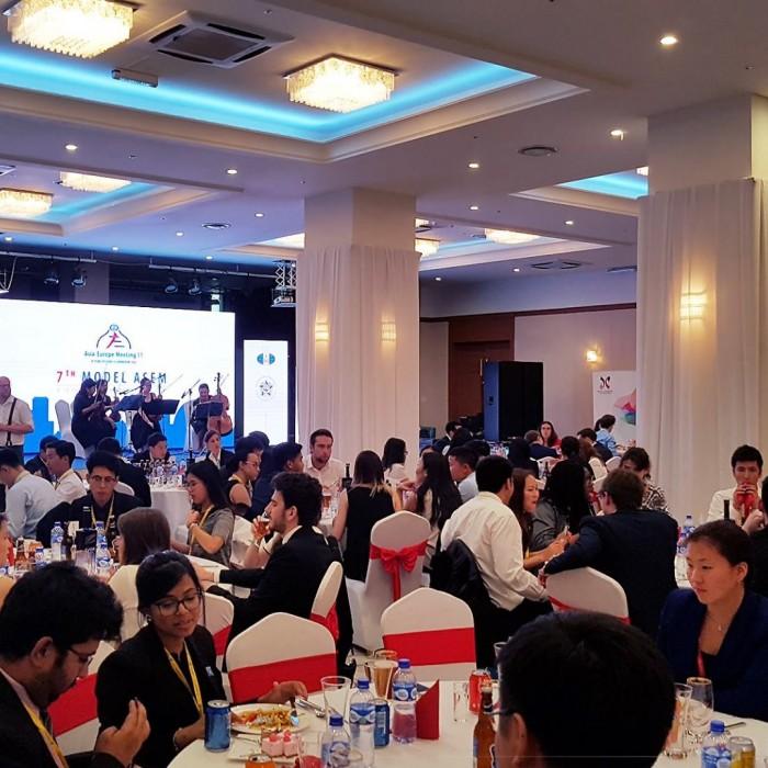 Asia-Europe Meeting 11 , 7th Model ASEM Залуучуудын Чуулганы хүлээн авалт