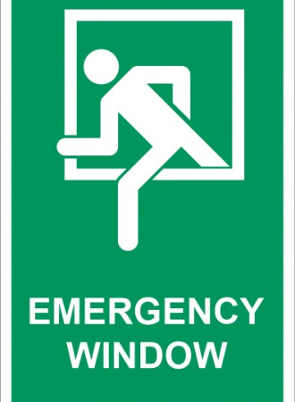 Emergency window sign
