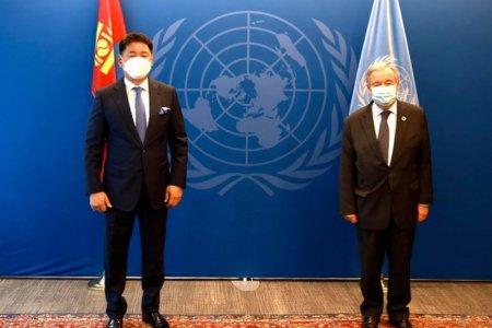 Монгол Улсын Ерөнхийлөгч У.Хүрэлсүх НҮБ-ын Ерөнхий нарийн бичгийн даргатай уулзав