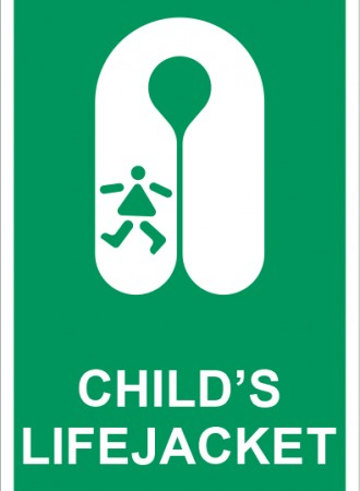 Child's lifejacket sign