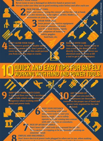 10 tips for safely working with hand and power tools