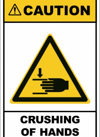 Crushing of hands sign