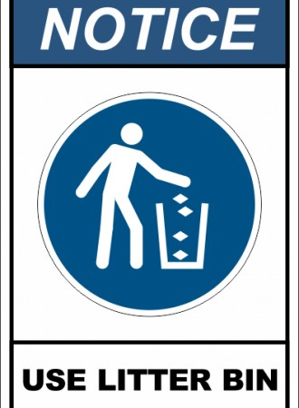 User litter bin sign
