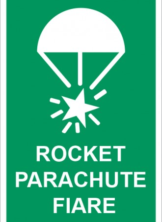 Rocket parachute flare sign