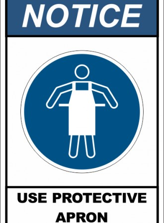 Use protective apron sign