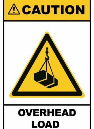 Overhead load sign