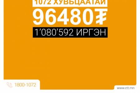 ЭТТ: Хэрэв та 964 ширхэг хувьцаатай бол 86760 төгрөгийн ногдол ашиг авна