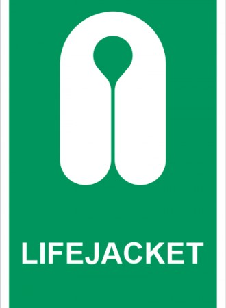 Life jacket sign