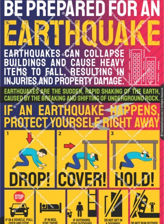 Be prepared for an earthquake