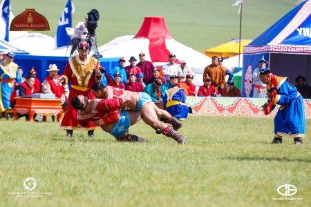 Монгол улсын заан М.Өсөхбаяр хоёрын даваанд өвдөг шороодлоо