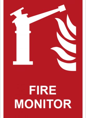 Fire monitor sign