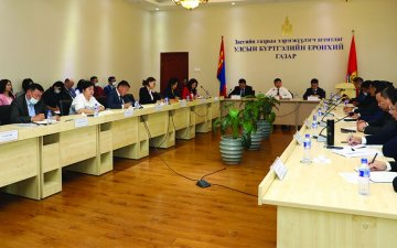 Minister of Justice and Internal Affairs Kh.Nyambaatar acquaints with work of the GASR