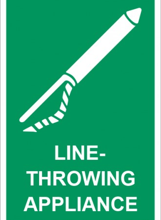 Line-throwing appliance sign