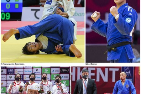 Манай жүдочид Ташкентаас таван медальтай ирлээ