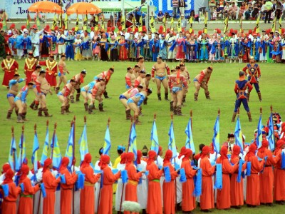 Naadam festival in the countryside