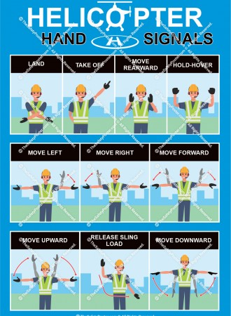 Helicopter hand signals
