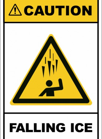Falling ice sign