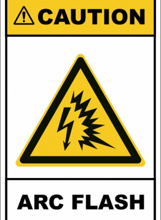 Arc flash sign