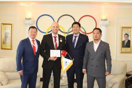 FIBA-гийн төлөөлөгчид МҮОХ-д зочиллоо