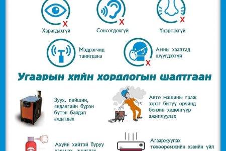 НЭМҮТ: Угаарын хийн хордлогоос урьдчлан сэргийлэх зөвлөмж