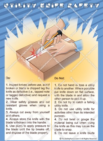 Utility knife safety