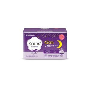 Kotex хөвөн зөөлөн, шөнийн урт хэрэглэл 42см / 10ш