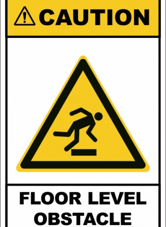 Floor level obstacle
