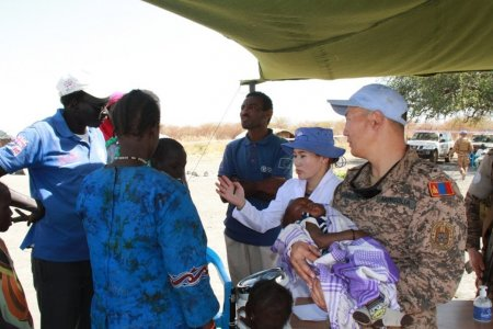 Mongolian peacekeepers provide medical assistance in South Sudan