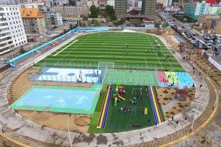 МЭДЭЭ: Олон улсын стандартад нийцсэн иж бүрэн спортын талбай нээгдлээ