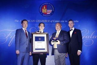 "AmCham Mongolia Awards Prominent Economist Da. Ganbold with ""2016 Business Leadership Award"""