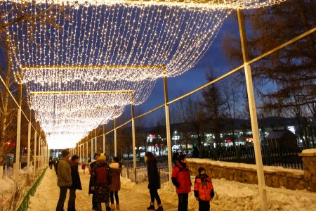 LIGHT STREET DAZZLES IN ERDENET CITY