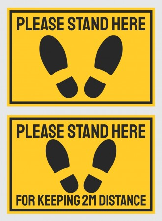 Please stand here floor sign
