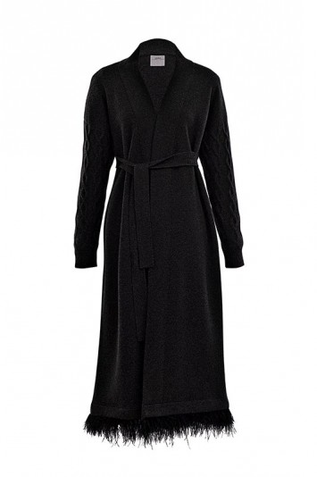 Double play cashmere coat