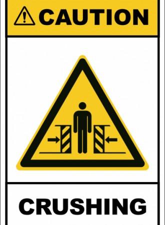 Crushing sign