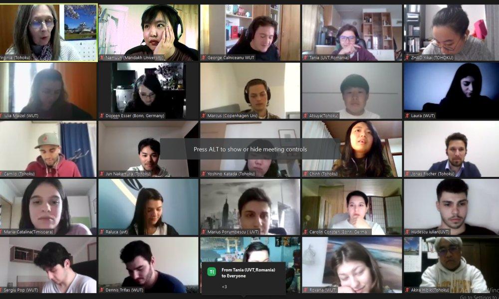 Хамтын ажиллагаатай Япон улсын Тохоку их сургуулиас  зохион байгуулсан онлайн сургалтанд Мандах их сургуулийн бакалавр, магистрын хөтөлбөрийн оюутнууд хамрагдаж байна