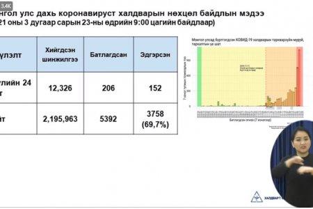 ЭМЯ: 206 хүнд халдвар илэрсний 13 нь орон нутагт бүртгэгдлээ