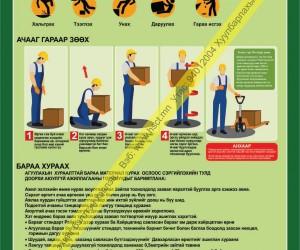 Агуулахад ажиллах үеийн аюулгүй ажиллагааны зааварчилгаа