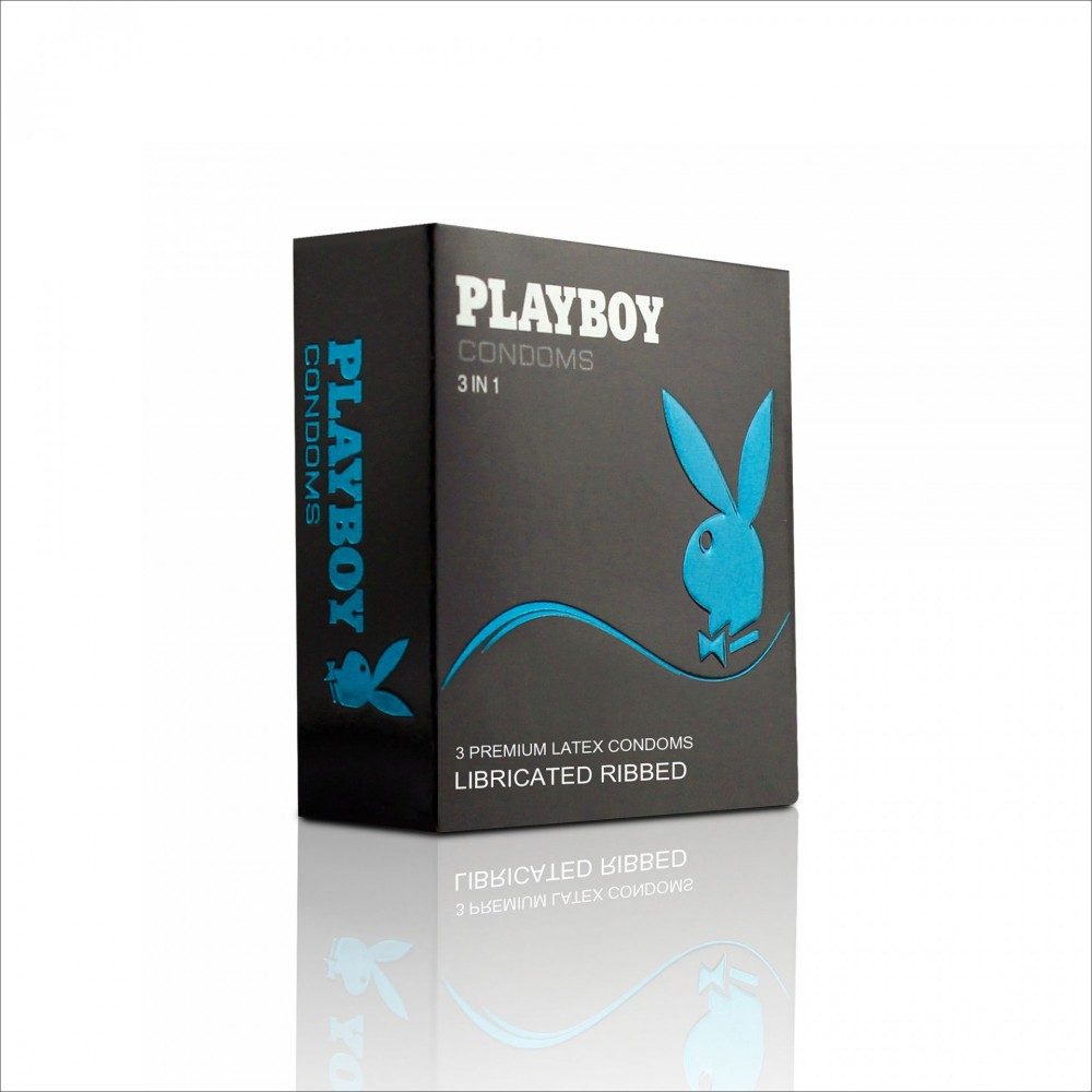 Бэлгэвч PlayBoy Үелэлтэй, 3 ширхэгтэй