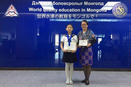 Нийслэлийн монгол хэлний олимпиадад амжилттай оролцлоо
