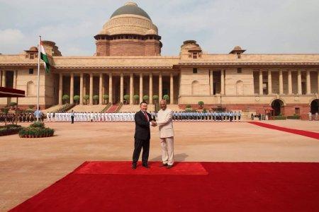 Монгол Улсын Ерөнхийлөгч Х.Баттулгыг Бүгд Найрамдах Энэтхэг улсын Ерөнхийлөгч Рам Натх Ковинд албан ёсоор угтав