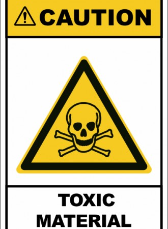 Toxic material sign
