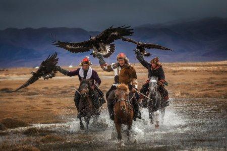 Das Adlerfestival in Mongolei