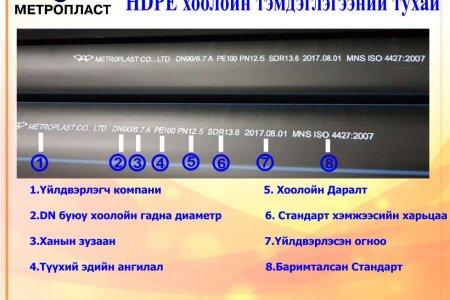HDPE  хоолойн  тэмдэглэгээ ямар учиртай вэ ?