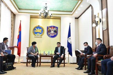 Хотын дарга Монголын Мянганы сорилтын сангийн төлөөлөгчидтэй уулзав
