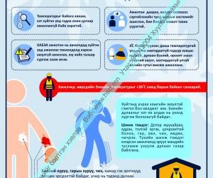 Хүйтэн нөхцөлд ажиллах тухай ХАБ-ын самбар