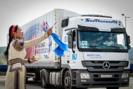 Монгол - Хятад - Орос гурван улсын анхны транзит тээврийн цуваа