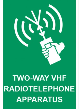 Two-way VHF radiotelephone apparatus sign